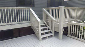 Paint Medic deck painting project completed - Northeast Ohio