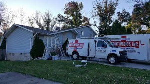 Residential painter - home exterior project by Paint Medics in Northeast Ohio
