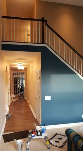 interior painting - hallway and staircase
